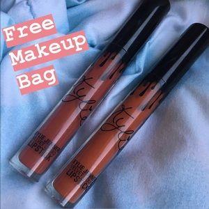 2 Kylie LipKits w/ FREE MAKEUP BAG